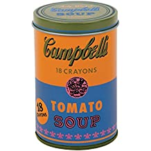 Mudpuppy - Andy Warhol - Set of Crayons - Campbell's Soup Can (1965) - Orange and Blue
