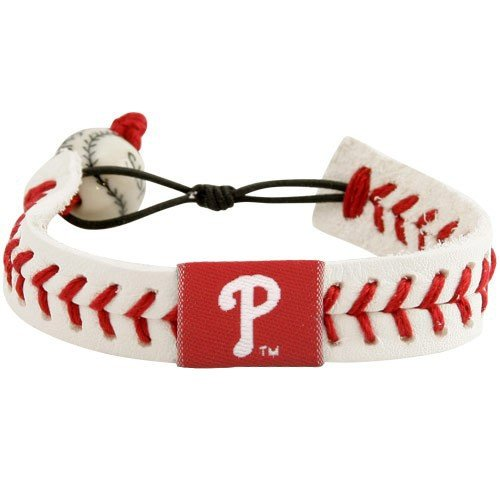 Phillies Philadelphia Baseball Leather (MLB Philadelphia Phillies Leather Baseball Seam Bracelet)