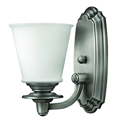 (Hinkley 54260PL Traditional One Light Bath from Plymouth collection in Pwt, Nckl, B/S, Slvr.finish,)