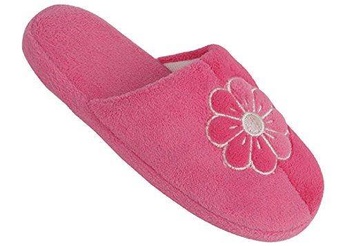 Ciabatte Da Donna Chiuse In Pile Nuove Di Zecca, Disponibili In 12 Colori Rosa