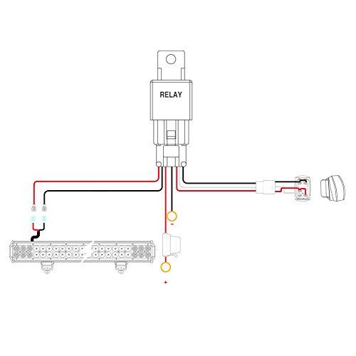 Nilight-LED-Light-Bar-Wiring-Harness-Kit-12V-5Pin-Rocker-Switch-Laser-On-off-Waterproof-Switch-Power-Relay-Blade-Fuse-2-Lead2-Years-Warranty