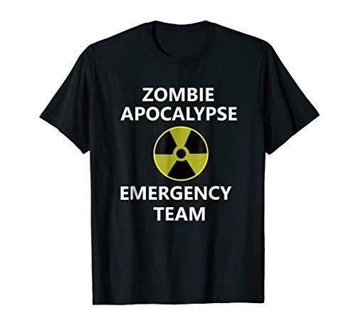 Halloween Zombie Apocalypse Team Shirt Funny Matching
