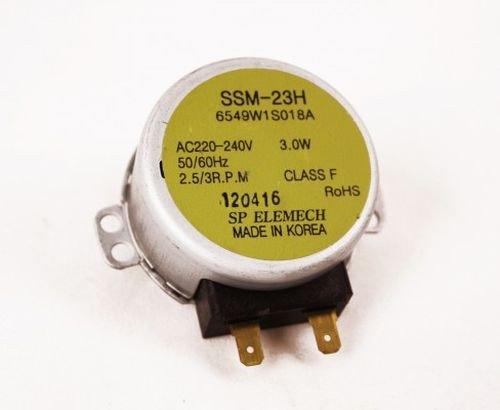 LG 6549W1S018A - Motor de plato giratorio para microondas Bosch, Siemens, SSM-23H HB77L55EU y HB86Q560