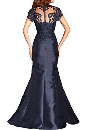 Charmant Damen 2017 Neu Navy Blau Spitze Taft Abendkleider Partykleider  Brautmutterkleider schmaler Schnitt Lang