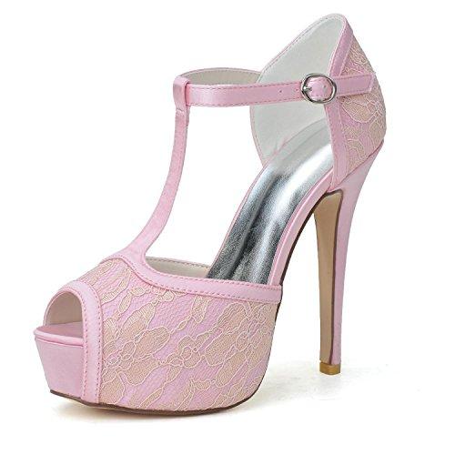 Zapatos 28 yc Seta L Tamaño Seda Gran Boda Hebilla Pink 3128 Mujer Punta Sandalias De Para fxq0Rw05U