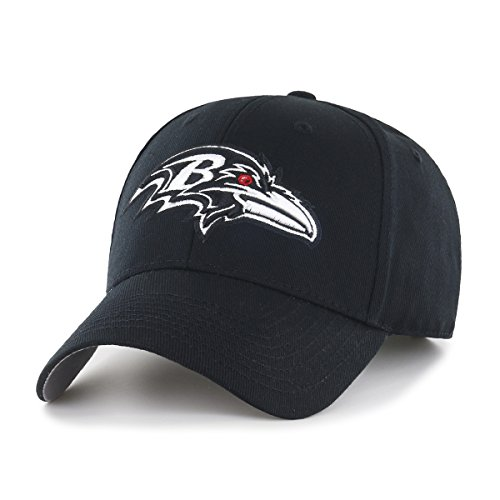 OTS NFL Baltimore Ravens All-Star Adjustable Hat, Black & White, One Size Baltimore Ravens Black Fashion