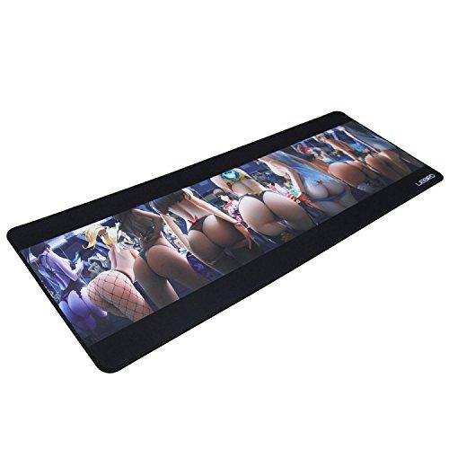 Extended XXXL Gaming Mouse Pad – Dimensión 80 x 30 x 0,3 cm – Tapetes para Mouse y el teclado pad, tamaño grande Desk...