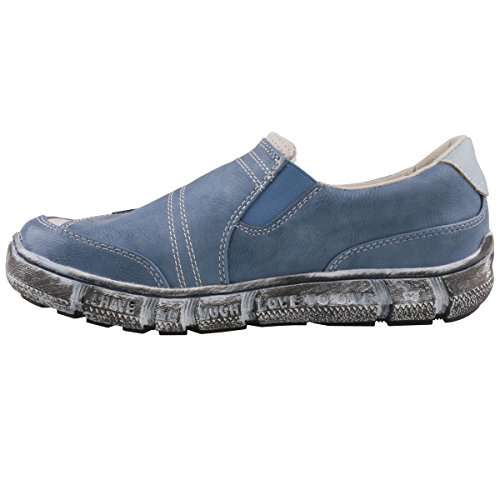 Mustang 402 Slip On Blau Damen 1110 zr5xUwqAz