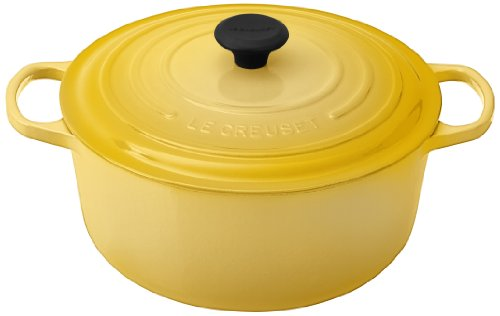 Le Creuset Signature Enameled Cast-Iron 7-1/4-Quart Round French (Dutch) Oven, Soleil