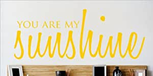 """Design with Vinyl – CA OMG 449 As Seen """"You Are My Sunshine"""" Quote Lettering Decal, 10 by 40-Inch"""