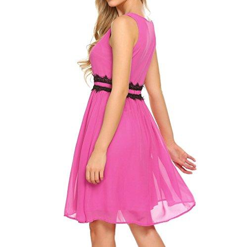 Amazing Zeagoo Damen Plissee Kleid Violett Zpzalrtt Zeagoo Damen Plissee  Kleid Violett Zpzalrtt With Plissee Violett