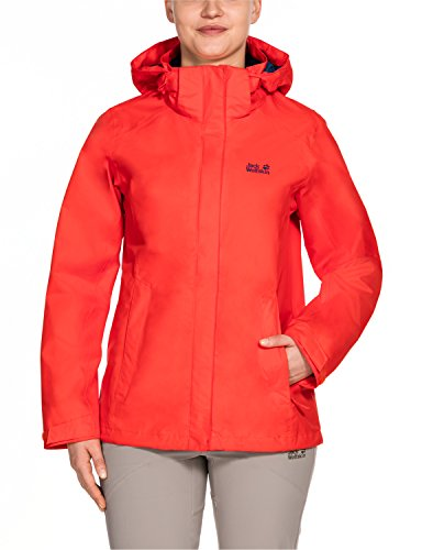 Lakes Giacca Wolfskin Antivento Red E Impermeabile Seven Lobster Jack Da Donna qX75x88w