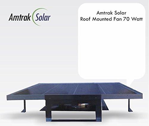 Amtrak Solar 70 Watt Most Powerful Roof Top Solar Attic Fan