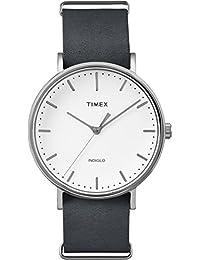 Timex TW2P91300GP Weekender Fairfield Analog-Quartz Wrist Watch, White Dial/Blue Strap