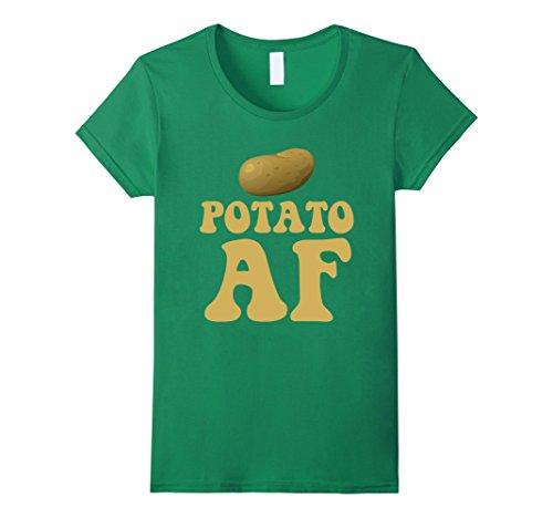 Womens Potato AF Funny Potatoes Starchy Vegetable Side Dish T-Shirt Medium Kelly Green