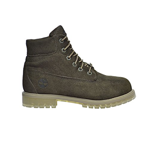 Timberland 6 Inch Big Kid's TPU Outsole Waterproof Suede Premium Boots Dark Green tb0a1bl4 (4.5 M US) by Timberland