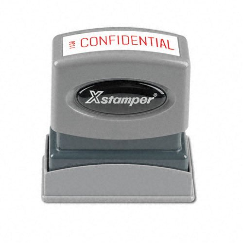 Confidential Ink Stamp - SHACHIHATA INC Confidential Ink Stamp, 1/2 x 1-5/8 Inches, Red Ink (XST1130)