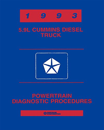 Diesel Shop Manual - bishko automotive literature 1993 Dodge Truck 5.9L Cummins Diesel Engine Shop Service Repair Manual Book OEM