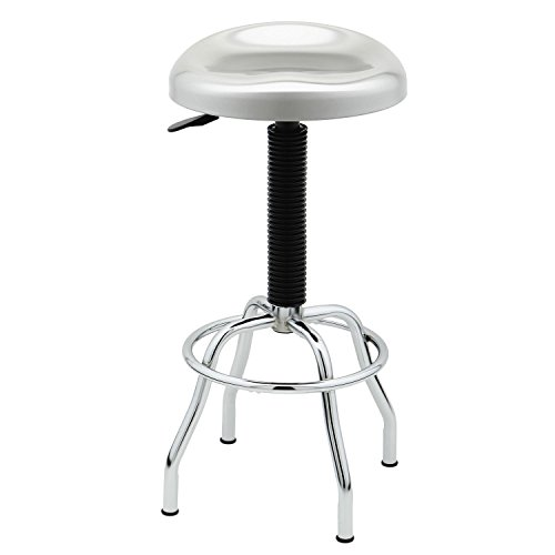 Seville Classics WEB181 Stainless Steel Pneumatic Contoured Seat Work Stool