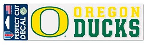 WinCraft NCAA University Oregon Ducks 3x10 inch Perfect Cut Decal ()