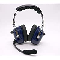 Noise Cancelling Pilot Style Headset for KENWOOD PUXING BAOFENG UV5R radio with MiNi DIN connector BLUE color