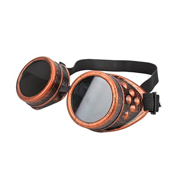 FASOTY Retro Vintage Steampunk Goggles Glasses Welding Cyber Punk Gothic Cosplay Party Goggles 5