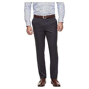 Haggar H26 - Men's Performance Slim Fit Pants (38x32, Navy)