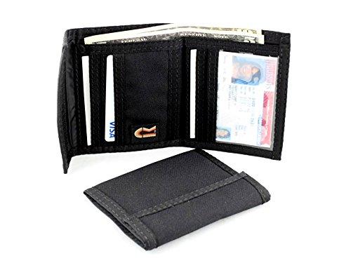 - RFID Credit Card Bifold Hook & Loop Wallet. Made in USA by Rainbow of California (Black)