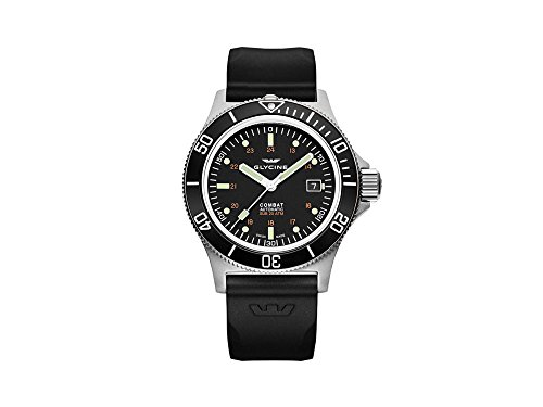 Glycine Combat Sub Automatic Watch, GL 224, Black, 42mm, GL0087