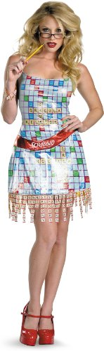 [Disguise Unisex Adult Sassy Scrabble, Multi, Medium (8-10) Costume] (Scrabble Fancy Dress Costume)