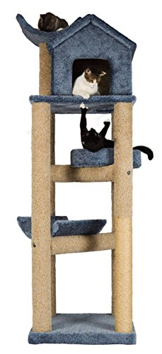 - Molly and Friends MF-91-bl/b Deluxe Scratching Post Furniture, Blue/Beige