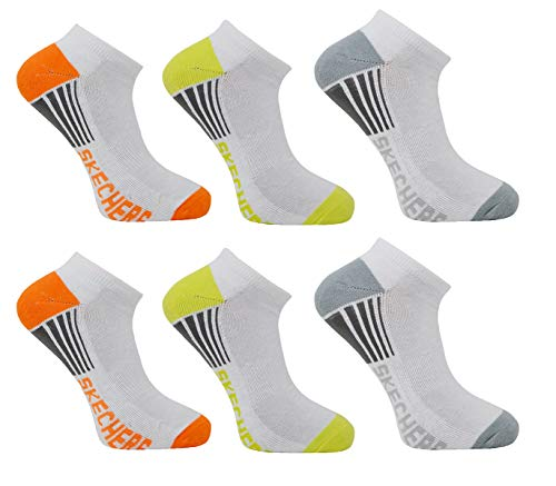 Skechers Ladies No Show Trainer Liner Socks 6 Pairs Size UK 4-7 EU 37-41 US 6.8-9.5