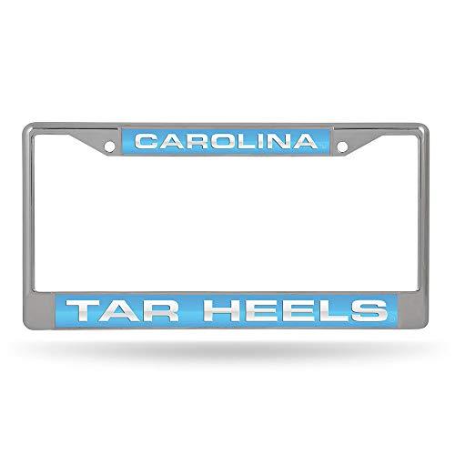 Ncaa Chrome Frame - Rico Industries NCAA North Carolina Tar Heels Laser Cut Inlaid Standard License Plate Frame, Chrome, 6