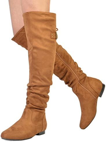 e89bfe80ae544 DREAM PAIRS Women s Fashion Casual Over The Knee Pull On Slouchy Boots