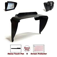 "Ramtech 7"" Clip-on Visor Sun Shade Sunshade For Garmin RV 760 760LMT / RV 770 770LMT-S GPS + Bonus Free Stylus Pen & Screen Protector - VSC7"