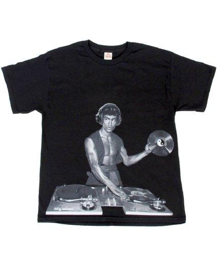 Bruce Lee DJ Black T-Shirt (Adult XX-Large)