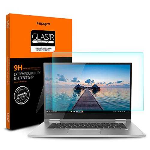 Spigen Tempered Glass Screen Protector Designed for ONLY Lenovo Yoga 730 (15.6 inch) [9H Hardness]