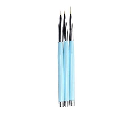 3pcs Set Nail Art Liner Linea Pluma De La Pintura De Flores