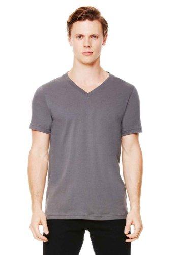 Bella 3005 Unisex Jersey Short Sleeve V-Neck Tee - Dark Grey