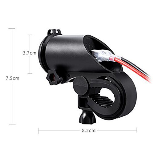 COROTC Motorcycle Charger USB Socket 12v Waterproof for Phone/Tablet/GPS/Vehicle with LED Light by COROTC (Image #4)
