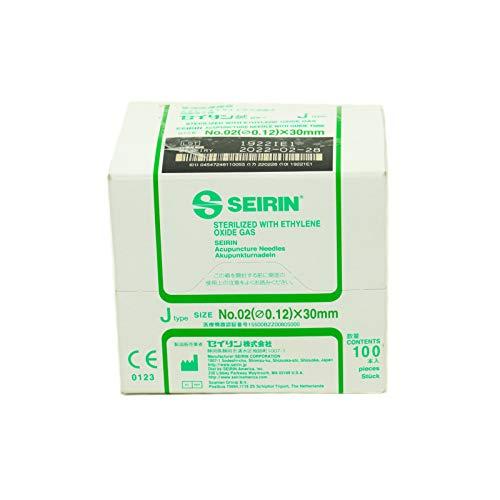 Seirin 081707314 J-Type Needles #02 0.12mm x 30mm