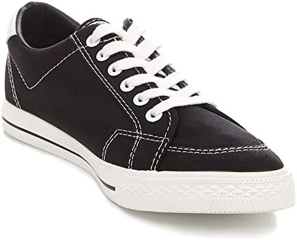 RENBEN Mens Canvas Shoes Casual Solid Lace Up Slip On Fashion Sneaker