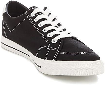 RENBEN Mens Canvas Shoes Casual Solid