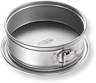 Estados Unidos Pan Bakeware Molde 9 Pulgadas, Antiadherente para Hornear Pastel de Queso para Tartas Fabricado aluminizado, Acero, Metal