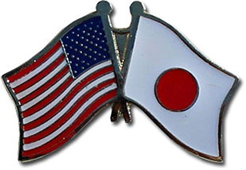(ALBATROS Pack of 3 USA American Japan Flag Lapel Pin for Bike Hat and Cap for Home and Parades, Official Party, All Weather Indoors Outdoors)
