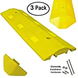 Electriduct Ultra Light Weight Economy Speed Bump - Yellow - 3 Pieces (9 Feet) - Concrete