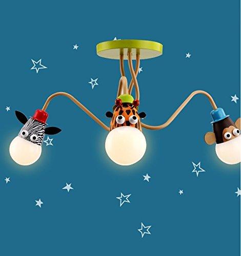 Lustre Mmyyy Creative bons amis animal enfants plafonnier /¨/¦clairage mural lampes LED de lustres en /¨/¦cole maternelle les enfants Soins des yeux