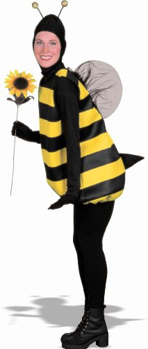 Forum Novelties Women's Complete Bumble Bee Adult Costume, Small, Black/Yellow