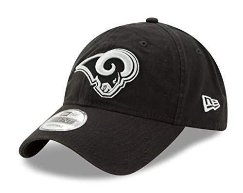 Los Angeles Rams New Era NFL 9Twenty ''Twill Core Classic'' Adjustable Black Hat by New Era