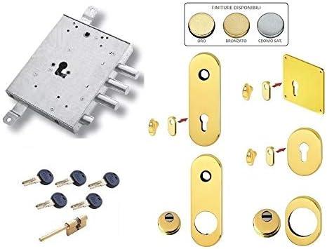 Kit de cerradura para puerta blindada de cilindro europeo de seguridad K22 para Motura IEEO GARDESA